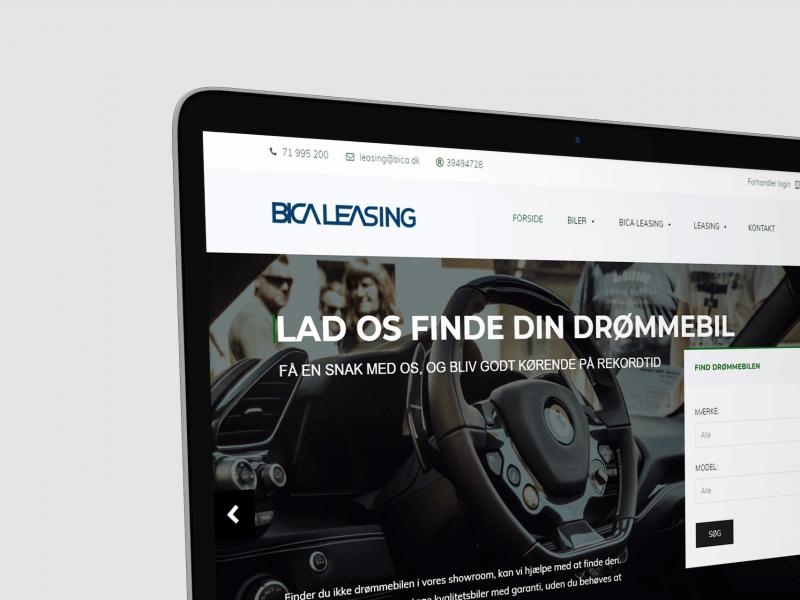 Bica Leasing A/S Website